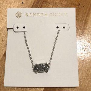 Kendra Scott Elisa Silver Necklace,Platinum Drusy